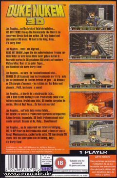 DUKE NUKEM 3D (SATURN) - BACK