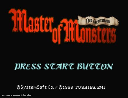 MASTER OF MONSTERS - NEO GENERATIONS Screenshot Nr. 1
