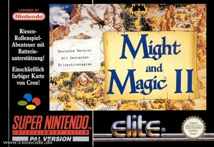 MIGHT AND MAGIC II (SUPER NINTENDO) - FRONT